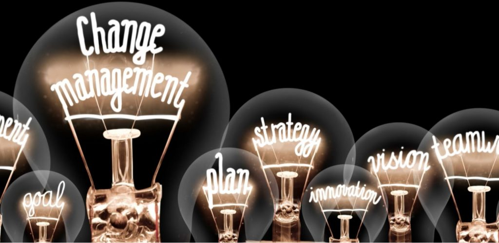 Decorative image of light bulbs showing innovation steps.