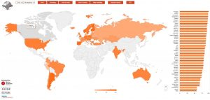 Global map of results from 'smiling' data
