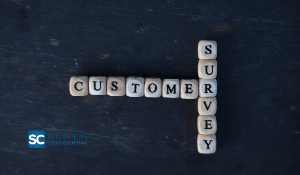 Blocks outlining Customer Survey VoC with Shoppers Confidential