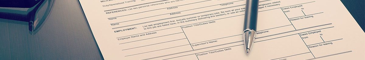 Employment application for Mystery Shopping Jobs